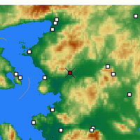 Nearby Forecast Locations - Bergama - Χάρτης