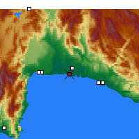 Nearby Forecast Locations - Belek - Χάρτης