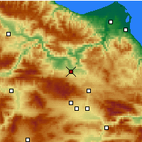 Nearby Forecast Locations - Vezirköprü - Χάρτης