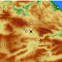 Nearby Forecast Locations - Suluova - Χάρτης