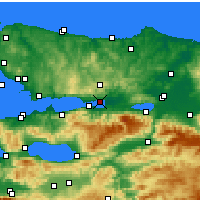 Nearby Forecast Locations - Ιζμίτ - Χάρτης