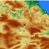 Nearby Forecast Locations - Havza - Χάρτης