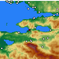 Nearby Forecast Locations - Gemlik - Χάρτης