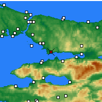Nearby Forecast Locations - Gebze - Χάρτης