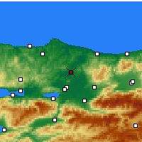 Nearby Forecast Locations - Ferizli - Χάρτης