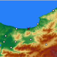 Nearby Forecast Locations - Akçakoca - Χάρτης