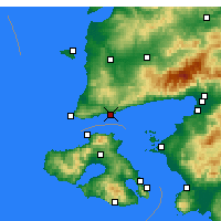 Nearby Forecast Locations - Άσσος - Χάρτης
