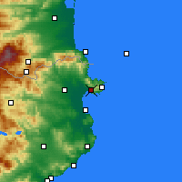 Nearby Forecast Locations - Ρόσας - Χάρτης