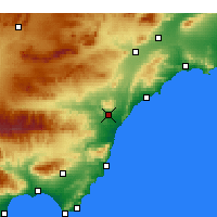 Nearby Forecast Locations - Villaricos - Χάρτης