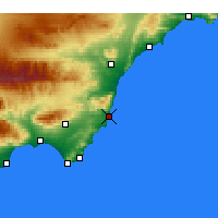 Nearby Forecast Locations - Carboneras - Χάρτης