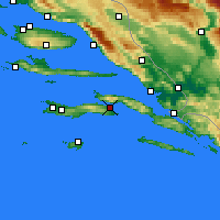 Nearby Forecast Locations - Κόρτσουλα - Χάρτης