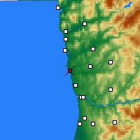 Nearby Forecast Locations - Póvoa de Varzim - Χάρτης