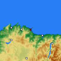 Nearby Forecast Locations - Burela - Χάρτης