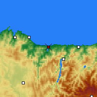 Nearby Forecast Locations - Ribadeo - Χάρτης