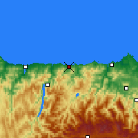 Nearby Forecast Locations - Ḷḷuarca - Χάρτης