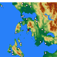 Nearby Forecast Locations - Mytikas - Χάρτης