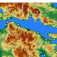 Nearby Forecast Locations - Αιγείρα Αχαΐας - Χάρτης