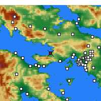 Nearby Forecast Locations - Kato Alepochori - Χάρτης