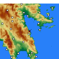 Nearby Forecast Locations - Paralia - Χάρτης