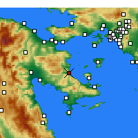 Nearby Forecast Locations - Archea Epidavros - Χάρτης