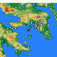 Nearby Forecast Locations - Peristeria - Χάρτης