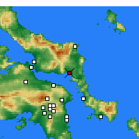 Nearby Forecast Locations - Αλιβέρι - Χάρτης