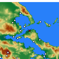 Nearby Forecast Locations - Pefki - Χάρτης