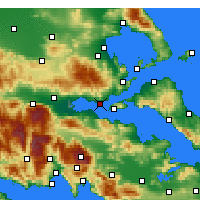 Nearby Forecast Locations - Paralia Rachon - Χάρτης