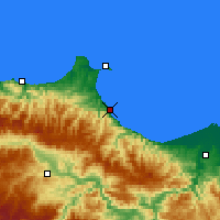 Nearby Forecast Locations - Gerze - Χάρτης