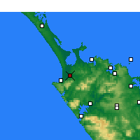 Nearby Forecast Locations - Kaitaia - Χάρτης