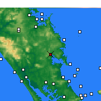 Nearby Forecast Locations - Whangarei - Χάρτης