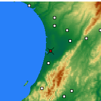 Nearby Forecast Locations - Foxton - Χάρτης