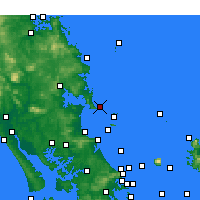 Nearby Forecast Locations - Bream Head - Χάρτης