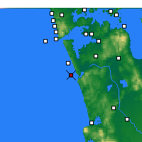 Nearby Forecast Locations - Port Waikato - Χάρτης