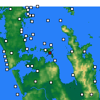 Nearby Forecast Locations - Waiheke Channel - Χάρτης
