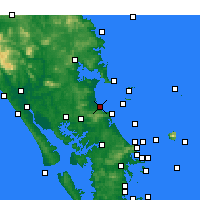 Nearby Forecast Locations - Waipu Cove - Χάρτης