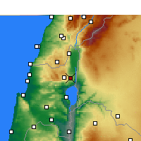 Nearby Forecast Locations - Rosh Pinna - Χάρτης