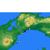 Nearby Forecast Locations - Πόλη του Παναμά - Χάρτης