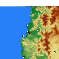 Nearby Forecast Locations - Viña del Mar - Χάρτης