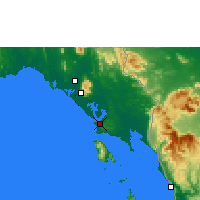 Nearby Forecast Locations - Trat - Χάρτης