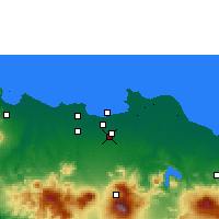 Nearby Forecast Locations - East Jakarta - Χάρτης