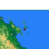 Nearby Forecast Locations - Hamilton Island - Χάρτης