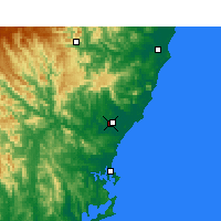Nearby Forecast Locations - Taree - Χάρτης