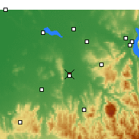 Nearby Forecast Locations - Wangaratta - Χάρτης