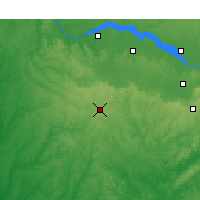 Nearby Forecast Locations - Haleyville - Χάρτης
