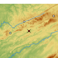 Nearby Forecast Locations - Jonesville - Χάρτης