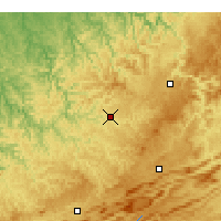 Nearby Forecast Locations - Pineville - Χάρτης