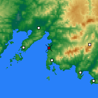 Nearby Forecast Locations - Bolshoy Kamen - Χάρτης