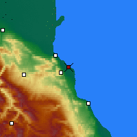 Nearby Forecast Locations - Kaspiysk - Χάρτης