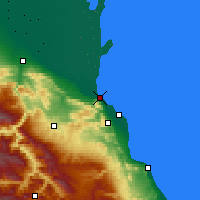 Nearby Forecast Locations - Μαχατσκαλά - Χάρτης